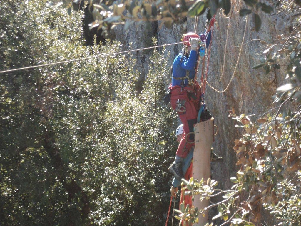 Exercice secours falaise du Gaudin st Baume 83