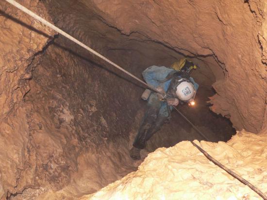 descente dans le puits