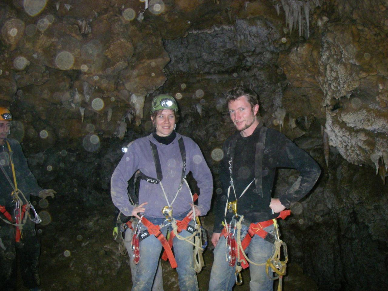 initiation à la spéléologie grotte de saint eucher